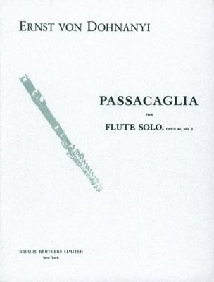 DOHNÁNYI - Passacaglia op. 48 n ° 2 - Flute Solo - Sheet Music - di-arezzo.co.uk