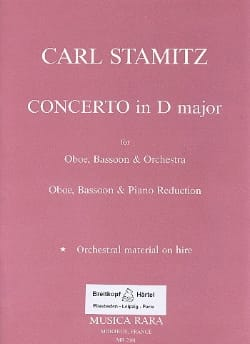 Concerto in D major - Oboe bassoon piano STAMITZ laflutedepan