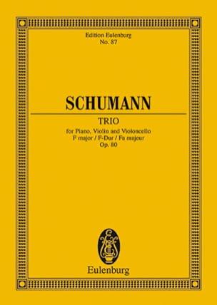 Robert Schumann - Klavier-Trio F-Dur - Partition - di-arezzo.fr