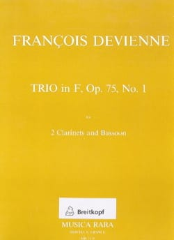 François Devienne - Trio in F op. 75 n° 1 - 2 clarinets bassoon - Partition - di-arezzo.fr