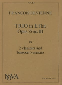 François Devienne - Trio in E flat op. 75 n° 3 - 2 Clarinets bassoon - Parts - Partition - di-arezzo.fr