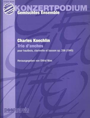 Charles Koechlin - Trio d'anches op. 206 – Partitur + Stimmen - Partition - di-arezzo.fr