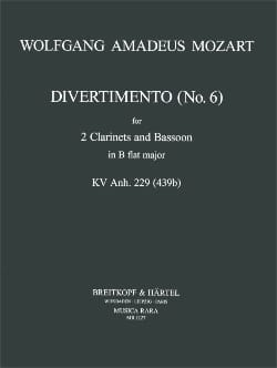 Divertimento n° 6 KV 439b in Bb – 2 Clarinets bassoon - laflutedepan.com