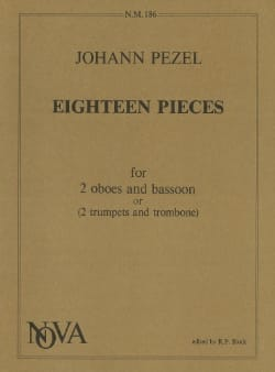 Johann Pezel - 18 Pieces - 2 oboes bassoon or 2 trumpets trombone - Sheet Music - di-arezzo.com