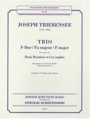 Joseph Triebensee - Trio F major - 2 oboes and english horn - Sheet Music - di-arezzo.com