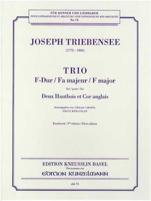 Joseph Triebensee - Trío F mayor - 2 oboes y corno inglés - Partitura - di-arezzo.es