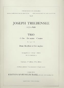 Joseph Triebensee - Trio in C major - Stimmen - Sheet Music - di-arezzo.co.uk