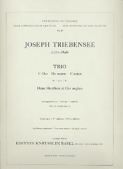 Trio en Do majeur - Stimmen Joseph Triebensee Partition laflutedepan