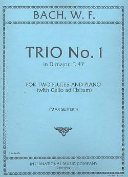 Wilhelm Friedemann Bach - Trio No. 1 in D major F. 47 - 2 piano flutes - Sheet Music - di-arezzo.com