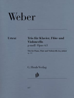 Carl Maria von Weber - Trio in G minor op. 63 for piano, flute and cello - Sheet Music - di-arezzo.com