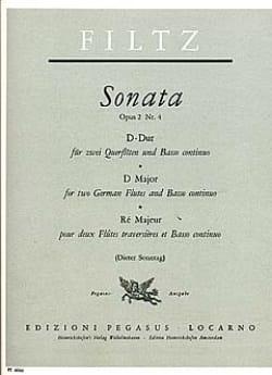 Anton Filtz - Sonata D-Dur op. 2 n° 4 –2 Flöten Bc - Partition - di-arezzo.fr