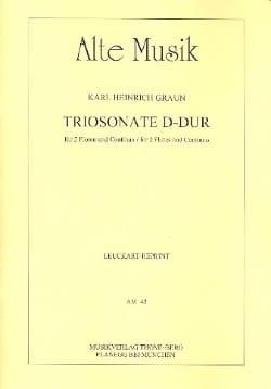 Carl Heinrich Graun - Triosonate D-Dur –2 Flöten und Continuo - Partition - di-arezzo.fr