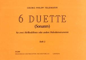 6 Duette Vol.2 TELEMANN Partition Flûte à bec - laflutedepan