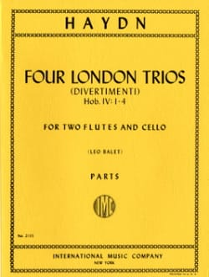 4 London Trios -2 Flutes cello - Parts HAYDN Partition laflutedepan