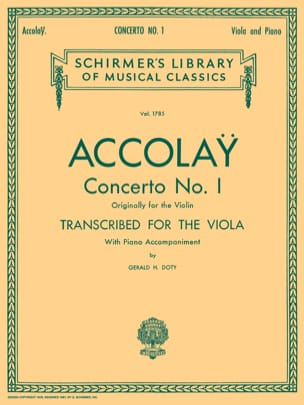 Concerto n° 1 Transcr. Alto Jean-Baptiste ACCOLAY laflutedepan