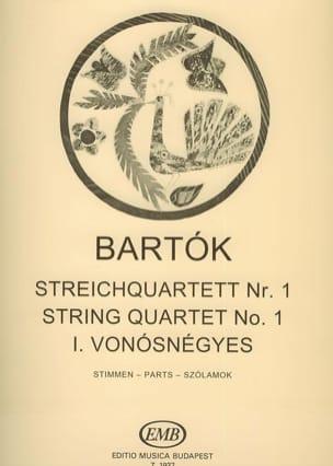 BARTOK - Quatuor à cordes n° 1 - Parts - Partition - di-arezzo.fr