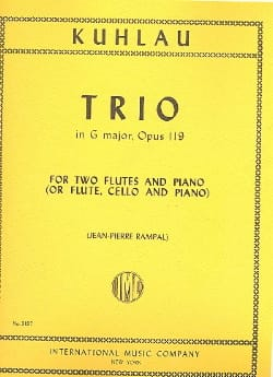 Friedrich Kuhlau - Trio in G major op. 119 - 2 Flutes piano - Partition - di-arezzo.fr