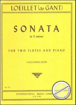 Sonate in E minor -2 flutes piano laflutedepan