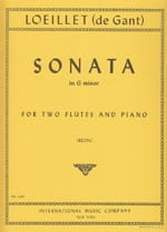 Sonata in G minor - 2 flutes piano - laflutedepan.com