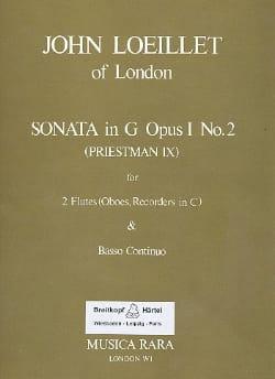Sonata in G op. 1 n° 2 -2 flutes oboes recorders Bc - laflutedepan.com