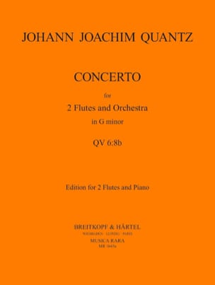 Johann Joachim Quantz - Concerto n° 1 in G minor - 2 flutes piano - Partition - di-arezzo.fr