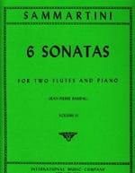6 Sonatas (Volume 2) -2 flutes piano - SAMMARTINI - laflutedepan.com