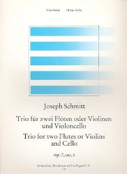 Joseph Schmitt - Trio op. 7 n ° 6 - 2 Flöten Violinen Violoncello - Sheet Music - di-arezzo.com