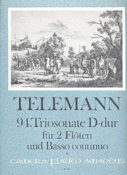 TELEMANN - Triosonate Nr. 94 in D Major - Sheet Music - di-arezzo.com