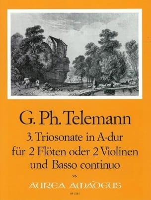 Georg Philipp Telemann - Triosonate Nr. 3 A-Dur –2 Flöten (Violinen) Bc - Partition - di-arezzo.fr