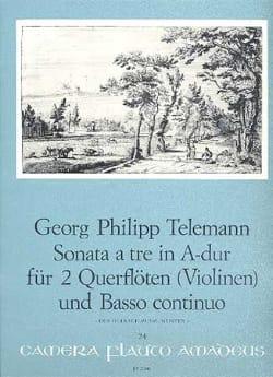Georg Philipp Telemann - Sonata A Tre A-Dur (La M.) - 2 Flûtes (Violons)-B.C. - Partition - di-arezzo.fr