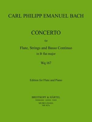 Carl Philipp Emanuel Bach - Concerto B-flat major, Wq 167 - Flute piano - Partition - di-arezzo.fr