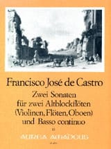 Francisco José de Castro - 2 Sonaten - 2 Altblockflöten Bc - Sheet Music - di-arezzo.com