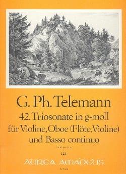 Triosonate Nr. 42 in g-moll - Oboe Violin Bc - laflutedepan.com
