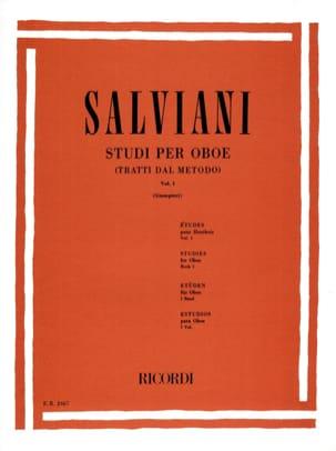 Clemente Salviani - Studi per oboe - Volume 1 - Partition - di-arezzo.fr