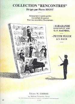 HAENDEL - Sarabande extr. Suite n ° 11 - Little fugue - arr. 4 parts - Sheet Music - di-arezzo.co.uk