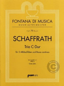 Trio C-Dur - 2 Altblockflöten BC Christoph Schaffrath laflutedepan