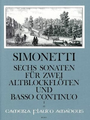 6 Sonaten op. 2 Bd. 1 : Nr. 1-3 -2 Altblockflöten Bc laflutedepan