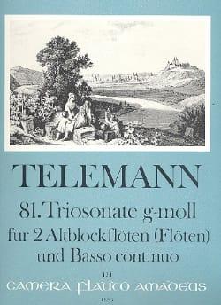 TELEMANN - Triosonate Nr. 81 g-moll - 2 Altblockflöten Flöten u. Bc - Sheet Music - di-arezzo.com