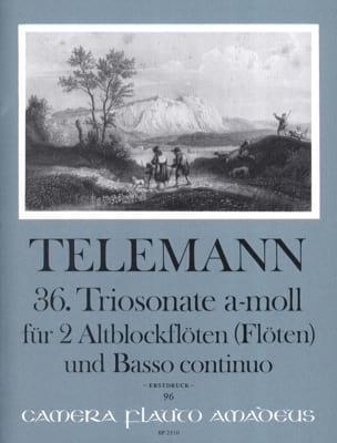 TELEMANN - Triosonate Nr. 36 a-moll - 2 Altblockflöten u. Bc - Partition - di-arezzo.fr