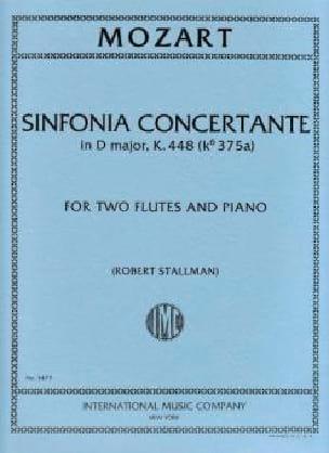 Sinfonia concertante in D major K. 448 -2 flutes piano - laflutedepan.com