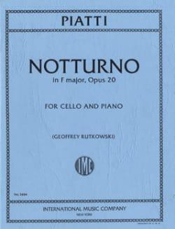 Alfredo Piatti - Notturno in F major op. 20 - Partition - di-arezzo.fr
