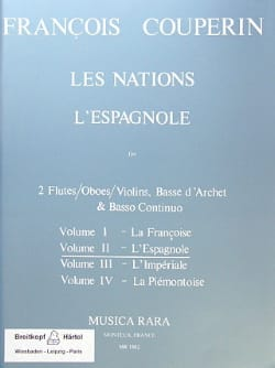 François Couperin - Les Nations - Volume 2 : L' Espagnole - Partition - di-arezzo.fr