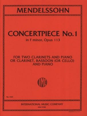 Concertpiece N° 1 Op. 113 -2 Clarinettes Piano laflutedepan