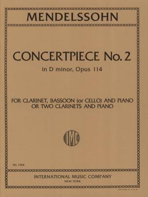 Concertpiece N° 2 Op. 114 -2 Clarinettes Piano laflutedepan
