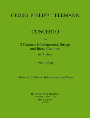 Concerto TWV 52 : D1 - 2 Clarinets Chalumeux piano laflutedepan