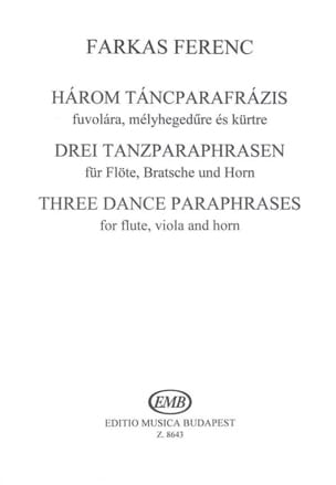 3 Tanzparaphrasen –Flöte Bratsche Horn - Partitur + Stimmen - laflutedepan.com