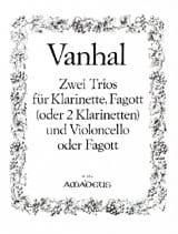 Johann Baptist Vanhal - 2 Trios - Klarinette Fagott Violoncello - Stimmen - Partition - di-arezzo.fr