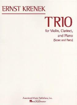 Ernst Krenek - Trio Pour Violon, Clarinette et Piano - Partition - di-arezzo.fr