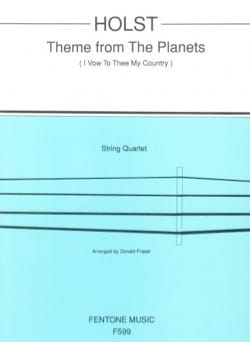 Gustav Holst - Theme from The Planets - String Quartet - Partition - di-arezzo.fr