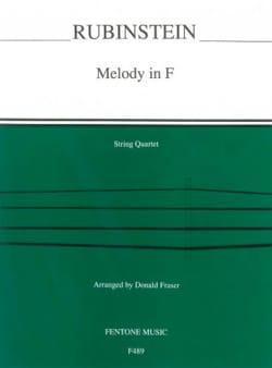 Anton Rubinstein - Melody in F – String Quartet - Partition - di-arezzo.fr